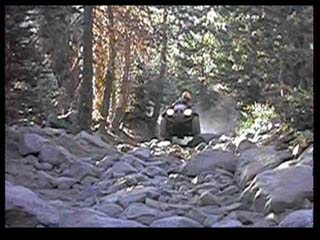Atv on Rubicon in the lake tahoe basin