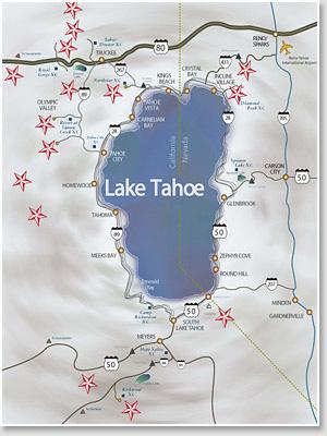 Lake Tahoe Recreation Things To Do At Lake Tahoe - Lake tahoe us map